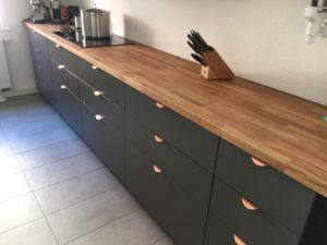 Küchenfronten Mattlack nach Caparol für Ikea Metod Küche
